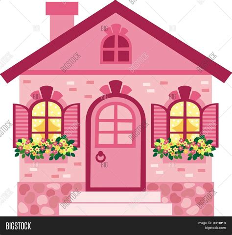 pink house pink house stock vector stock photos bigstock