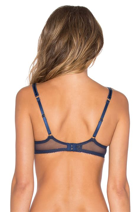 Myesha Non Pad Navy L by L By Provocateur Saskiia Non Pad Plunge Bra In