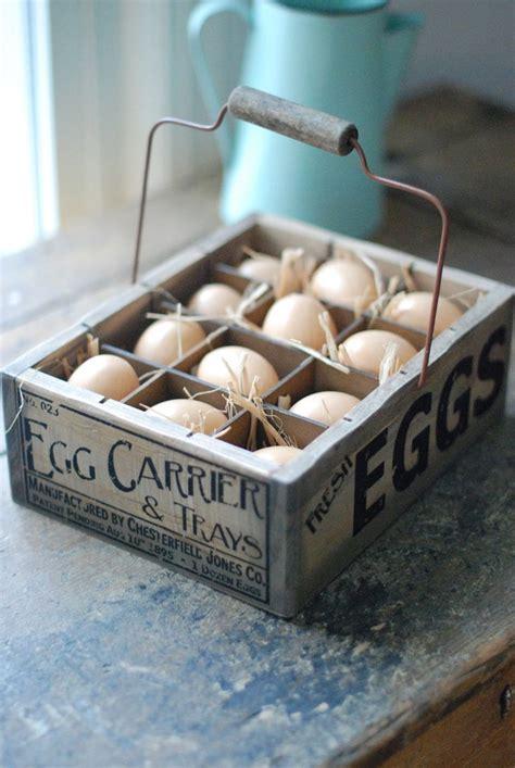 easter egg crate farmhouse display pretty wood eggs