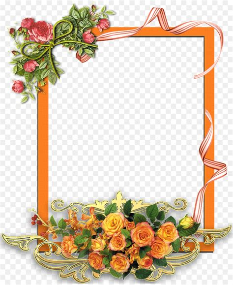 watercolor flowers frame png    transparent picture frames png