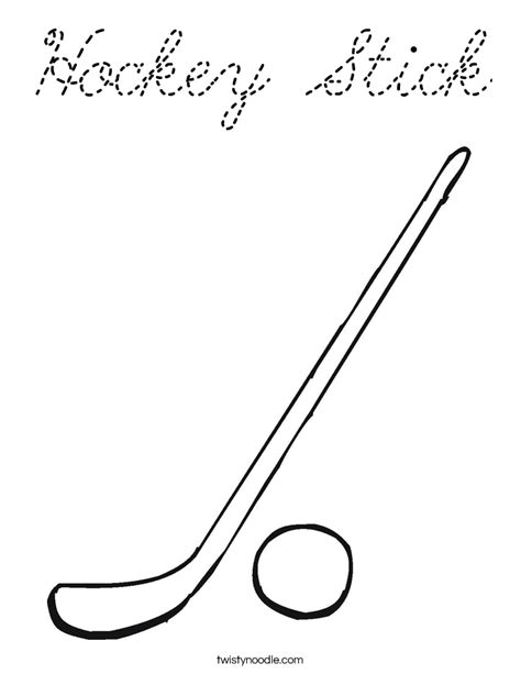 coloring pages of a hockey stick hockey stick coloring page