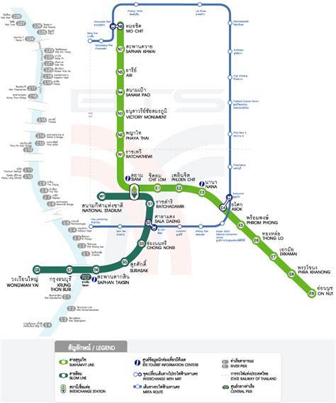 bts thailand bangkok bts map free printable maps