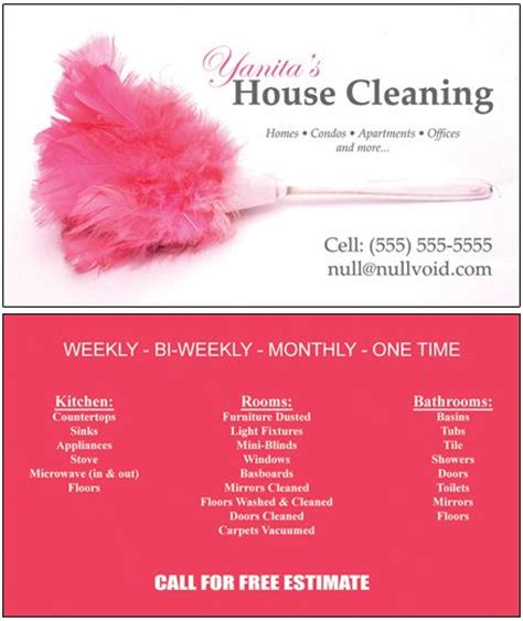 house cleaning business card sles of cleaning business cards business cards