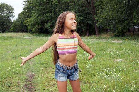 preteen models pimpandhost com running preteen girl stock photo image of luck little