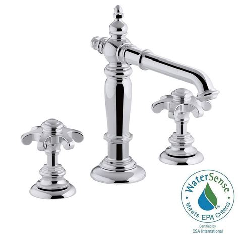 Kohler Bathroom Shower Faucets Design Kohler Artifacts 8 In Widespread 2 Handle Column Design Bathroom Faucet In Polished Chrome With