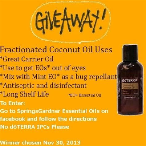 Coconut Oil Giveaway - pin by alisha reynolds on doterra pinterest