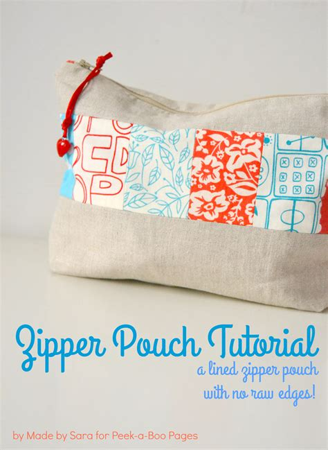 youtube zipper tutorial a simple lined zipper pouch tutorial peek a boo pages