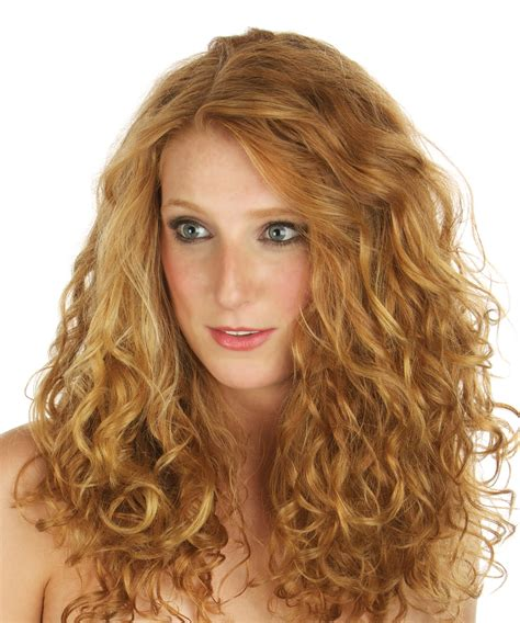 should their hair permed curly long permed curly hairstyles perm creates beach