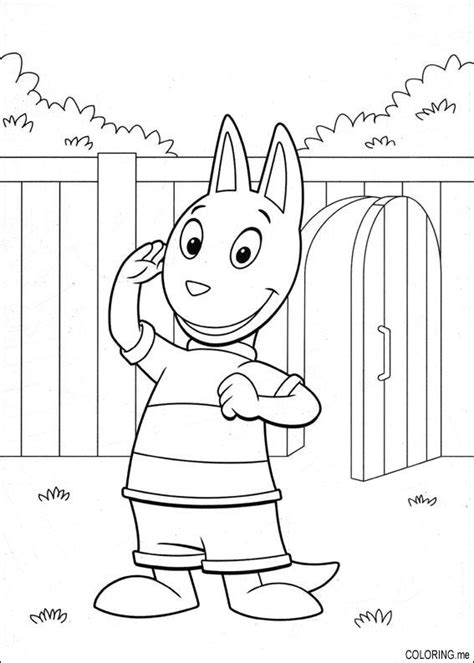 coloring page the backyardigans austin coloring me
