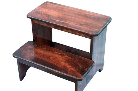 Wood Step Stools Furniture by Step Stools 187 Andy S World Of Wood Crafted