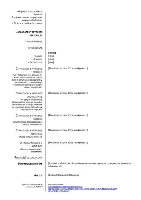 Modelo Curriculum Europeo Para Completar Modelo Basico De Plantilla De Cv Para Completar E Imprimir Motorcycle Review And Galleries
