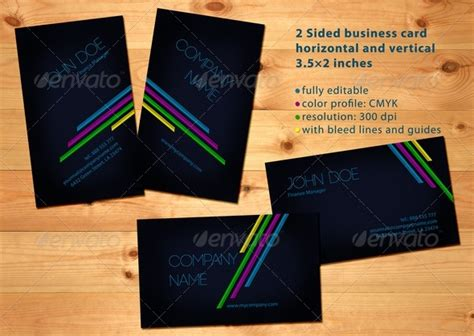 horizontal cards templates business card horizontal and vertical graphicriver
