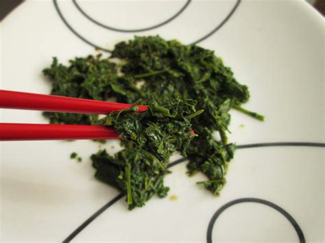 Brewing Green Tea Leaves - spent tea leaves