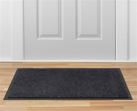 Door Matts by Watergate Anthracite Black Door Mat Door Mats