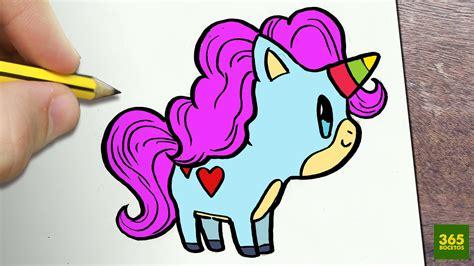 imagenes de unicornios hechos a lapiz como dibujar unicornio kawaii paso a paso dibujos kawaii