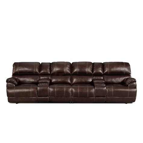 sofa and seats 4 seat leather reclining sofa thesofa