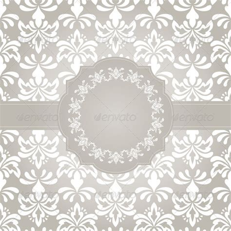 frame patterned wallpaper vector frame on seamless vintage wallpaper pattern