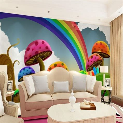 rainbow wallpaper for room wholesale wallpaper the living room sofa tv background