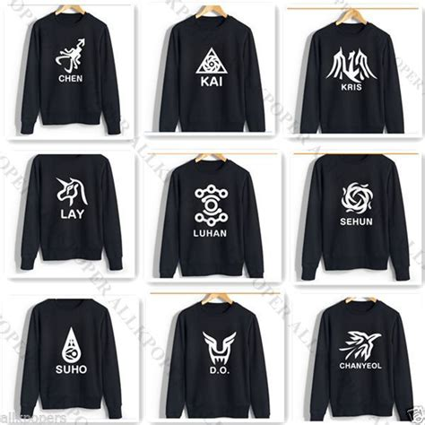 Sale Sweater Hoodie Exo We Are One kpop exo sweater 12 members logo luhan baekhyun chanyeol hoodie pullover chen ebay