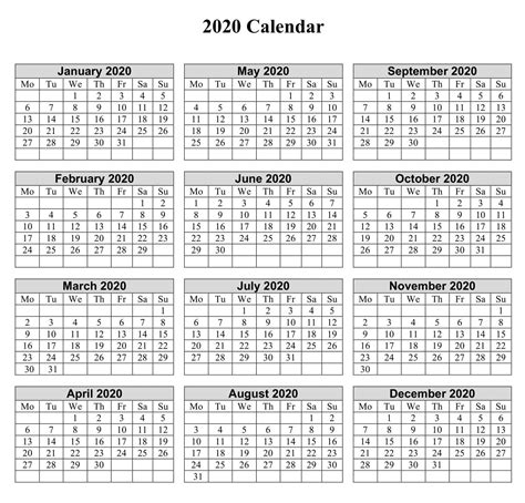 month printable calendar   notes net market