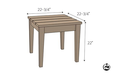 Fine Patio Side Table Plans Patio Design 393 Patio Table Dimensions