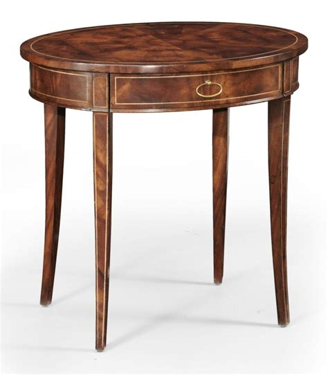 High Side Table High Quality Furniture Oval Side Table Bernadette Livingston Furniture Provides The Finest In