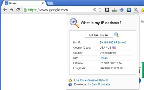 what is my up what is my ip address chrome web store