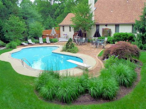 backyard with pool landscaping ideas idea for inground pool landscaping the best