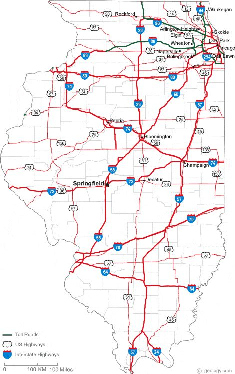 map of il map of illinois