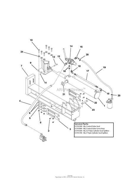 ton diagram ariens 917001 001400 003999 27 ton log splitter parts