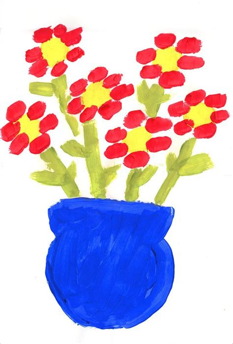 painting for small childrens flower painting projects for