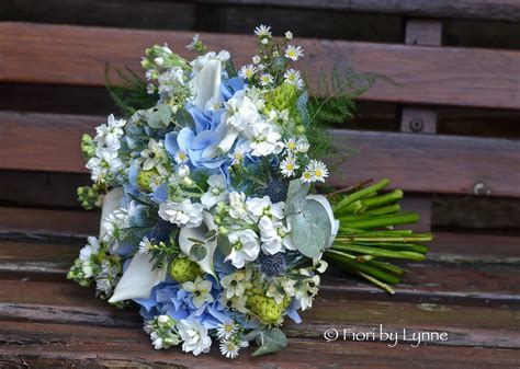 white wedding flowers wedding flowers jennie s rustic blue silver and