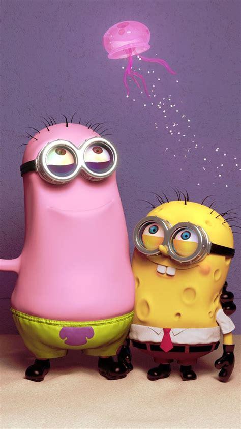 wallpaper minion pink patrick star and spongebob minion iphone 6 wallpaper