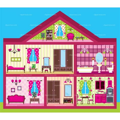 cartoon doll house inside clipart house cartoon pencil and in color inside