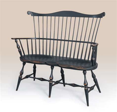 bench settee furniture historical new york windsor settee