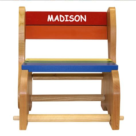 Personalized Step Stool Chair by Personalized Classic Step Stool Chairs For And