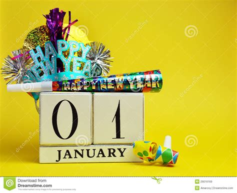 new year january 1 yellow theme save the date calendar for new year january