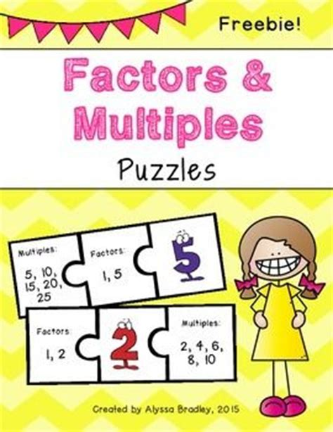 freebies multiples and division clip 25 best ideas about factors and multiples on