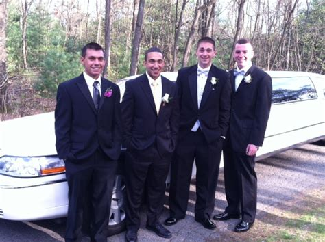 jr prom boys my grandson ryan tvelia and gina pizzi and friends at the