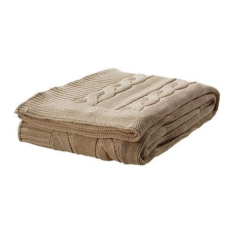 ikea blanket ikea ursula afghan throw blanket beige cable knit cotton