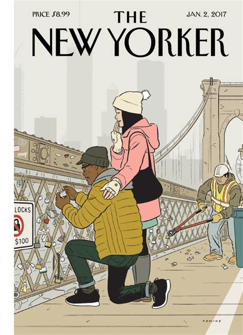 the best details from the new yorker s tmz profile cover story adrian tomine s love locks the new yorker
