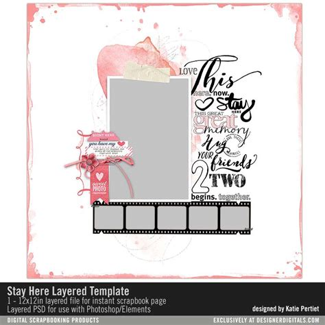 Stay Here Layered Template Katie Pertiet Pse Ps Templates Lt404683 Designerdigitals Stay Template