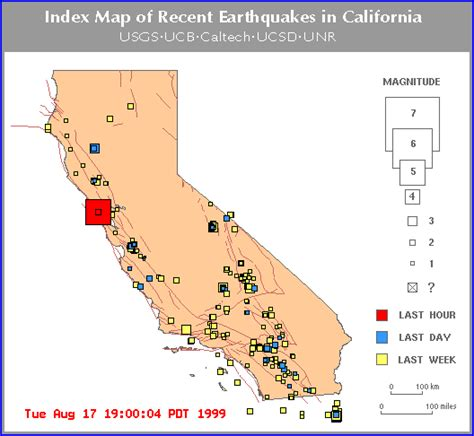 usgs earthquake map california earthquake map bay area