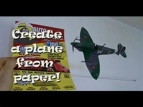 How To Make A Paper Spitfire - building a realistic looking supermarine spitfire out of