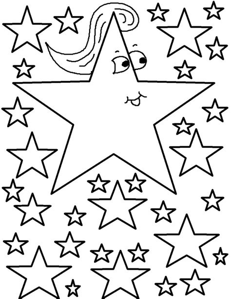 free coloring page of a star free printable star coloring pages for kids