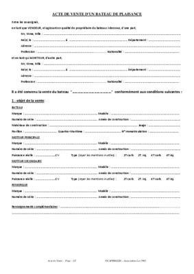 Acte Vente Bateau Plaisance.pdf notice & manuel d'utilisation