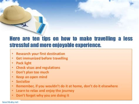 10 Tips On How To Give A by Check Out Ten Tips On How To Make Travel Less Stressful