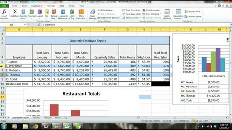 sle of monitoring and evaluation report ms excel 2010 tutorial employee sales performance report