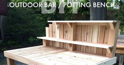 outdoor indoor bench for bar that s my letter outdoor bar potting bench