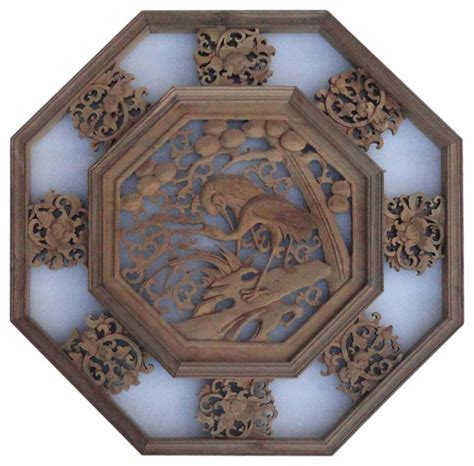 asian wall art zoom asian wood carvings wall art chinese wood carved octagonal scenery wall decor panel